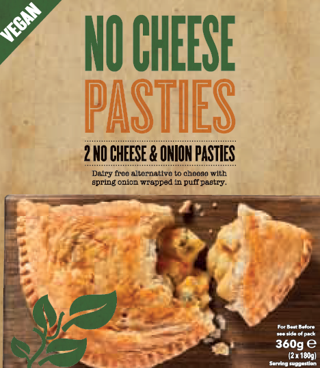 NO CHEESE Pasties