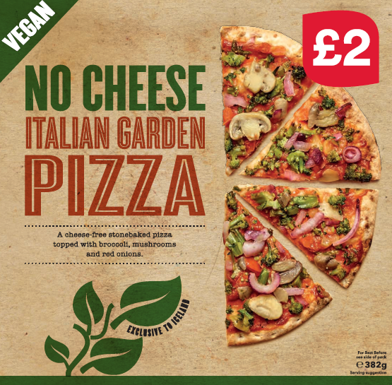 NO CHEESE Italian Garden Pizza