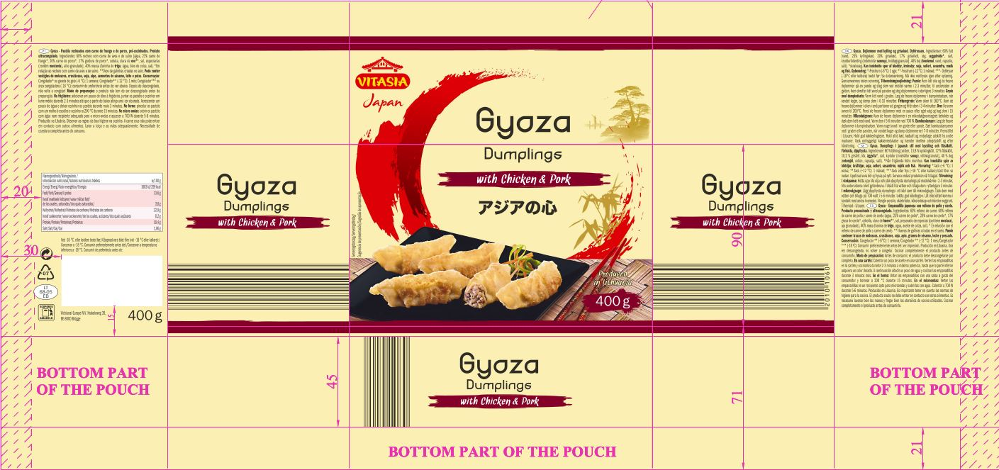 Gyoza Dumpling with Chicken and Pork Label