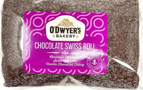 O'Dwyer's Bakery Chocolate Swiss Roll.