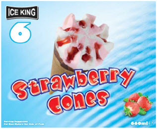 Ice King Strawberry Cone
