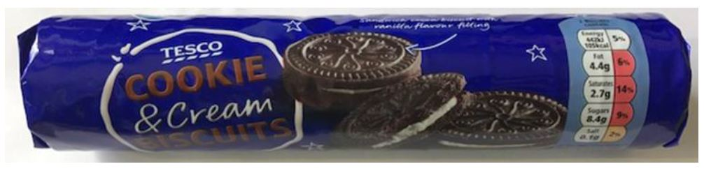 Tesco Cookie and Cream Biscuits