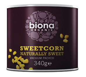 Biona sweetcorn