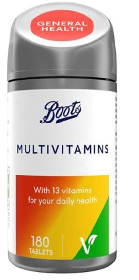 Recall of Boots Multivitamins 180 Tablets Containing Multivitamins and Iron Tablets, in Error