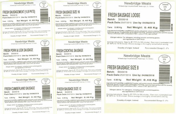Newbridge Meats Labels