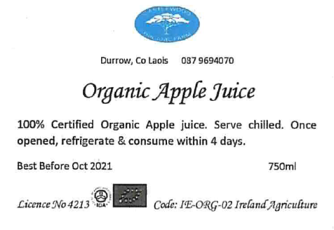 Apple Juice Label