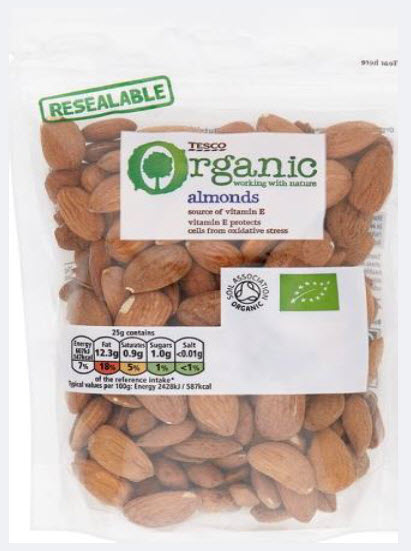 Tesco Organic Almonds