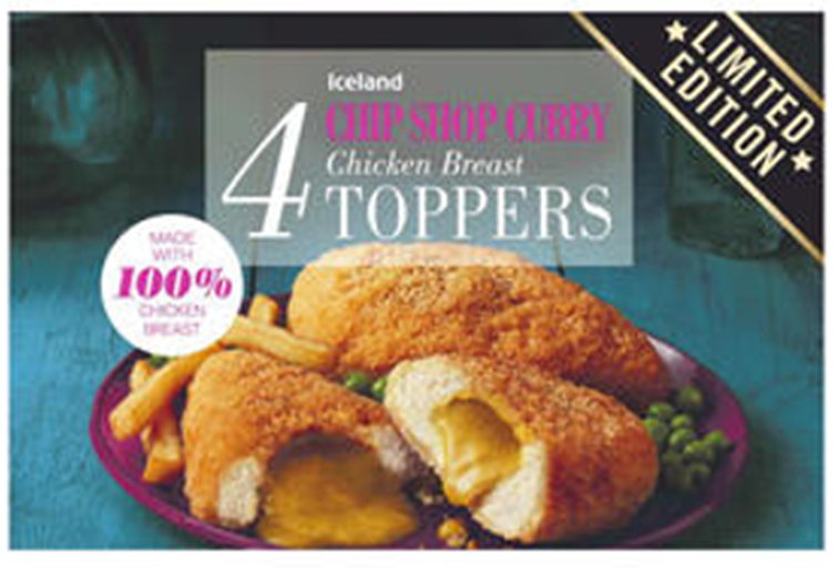 Iceland Chip Shop Curry 4 Chicken Breast Toppers