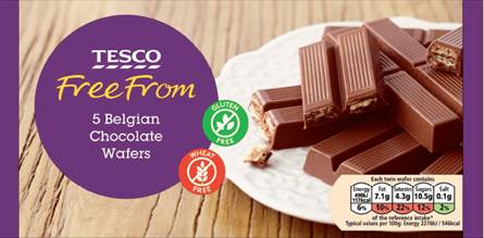 Tesco Chocolate Wafers